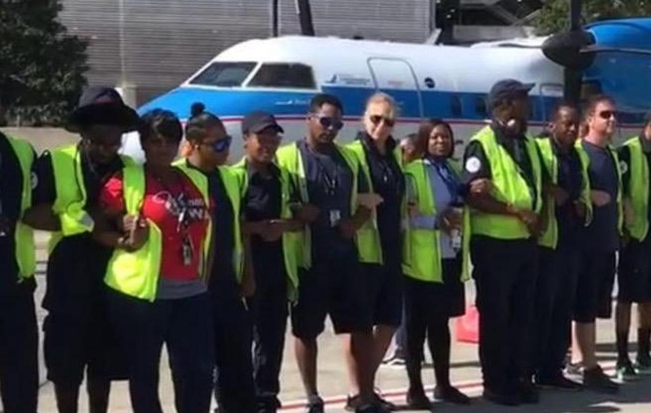 Piedmont Protest at CLT October 2017